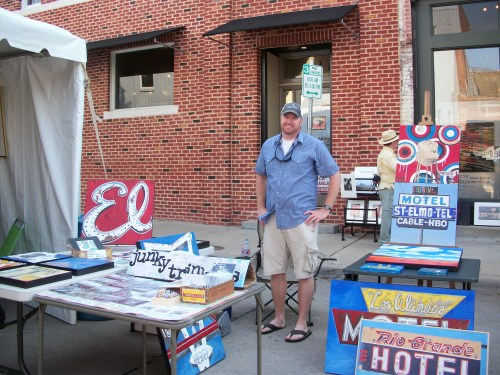 Jeb Matulich at the McKinney Art Walk
